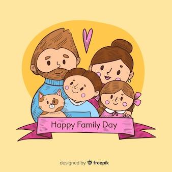 Internationale dag van familiesachtergrond