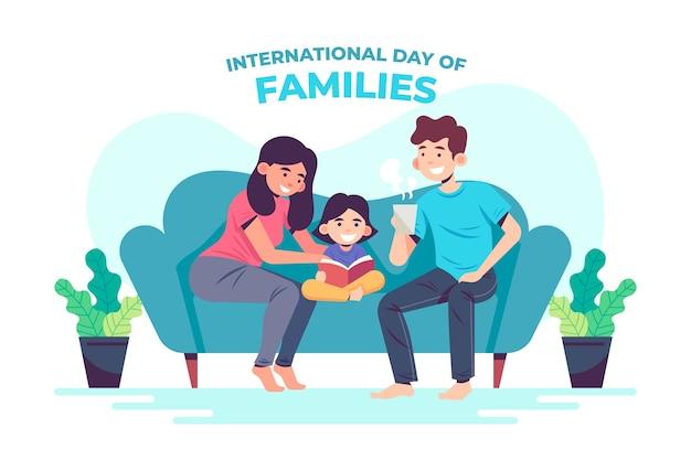 Internationale dag van gezinnen in plat design