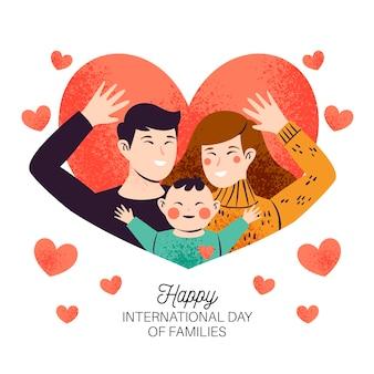 Internationale dag van gezinnen met ouders en kind