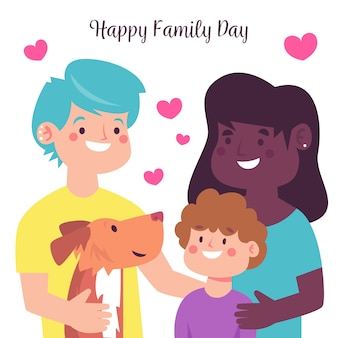 Internationale dag van gezinnen vlakke stijl