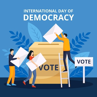 Internationale dag van het thema democratie