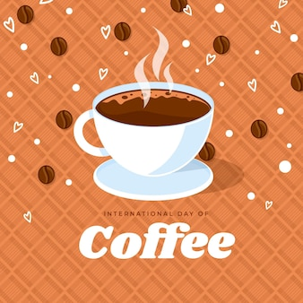 Internationale dag van koffie illustratie