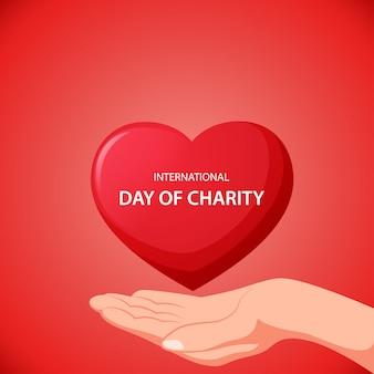 Internationale dag van liefdadigheid concept.