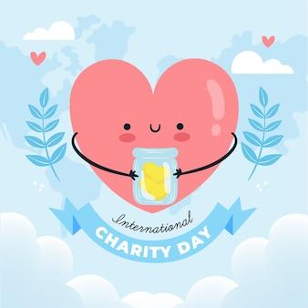 Internationale dag van liefdadigheid handgetekende