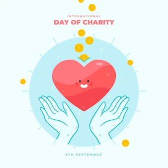 Internationale dag van liefdadigheid met hart
