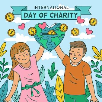 Internationale dag van liefdadigheid met mensen en planeet