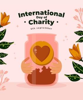 Internationale dag van liefdadigheidsachtergrond
