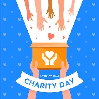 Internationale dag van liefdadigheidsthema