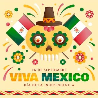 Internationale dag van mexico hand getrokken