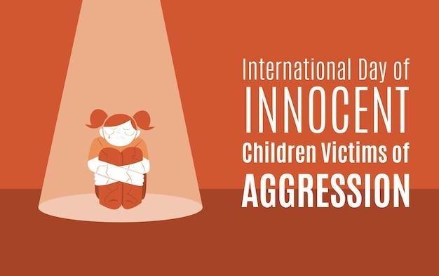 Internationale dag van onschuldige kinderen slachtoffers van agressie
