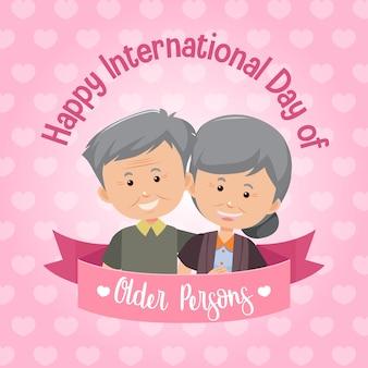 Internationale dag van ouderen banner