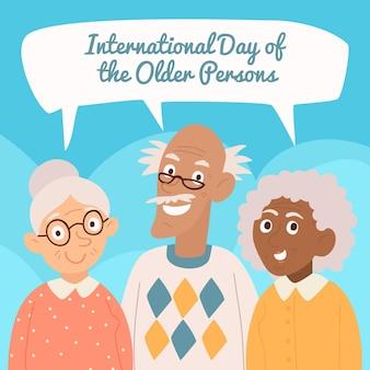 Internationale dag van ouderen concept