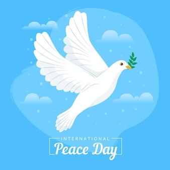Internationale dag van vrede met duif