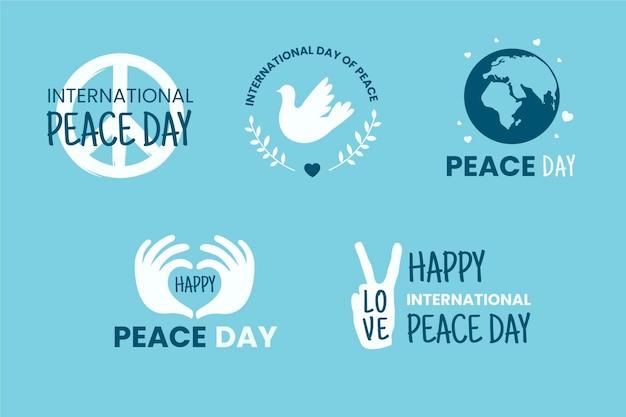 Internationale dag van vredesetiketten pack