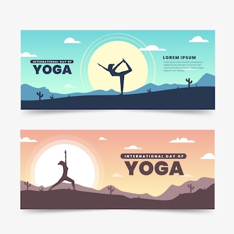Internationale dag van yoga banner