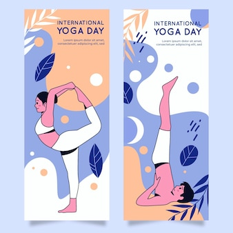 Internationale dag van yoga banners