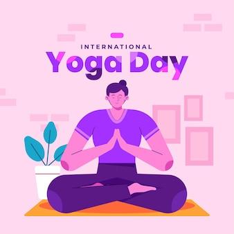 Internationale dag van yoga concept