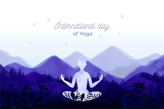 Internationale dag van yoga evenement illustratie