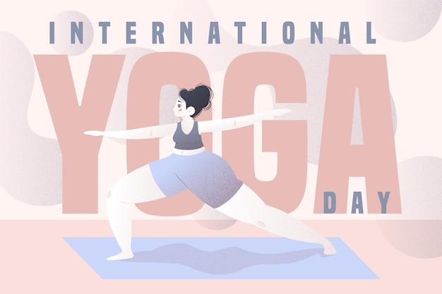 Internationale dag van yoga illustratie