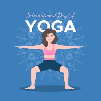 Internationale dag van yoga illustratie