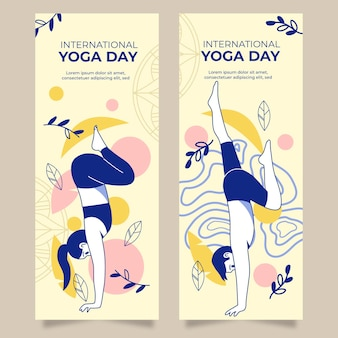 Internationale dag van yoga sjabloon voor spandoek