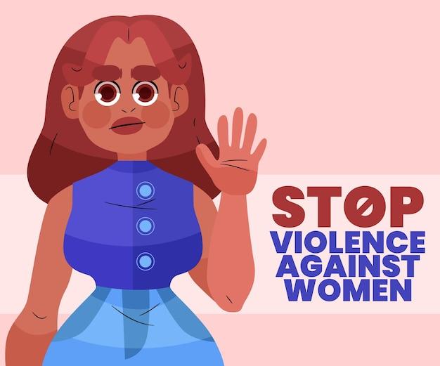 Internationale dag voor de uitbanning van geweld tegen vrouwen evenement illustratie