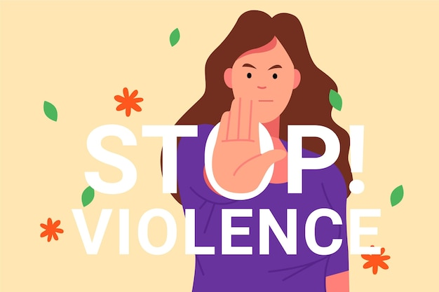 Internationale dag voor de uitbanning van geweld tegen vrouwen illustratie