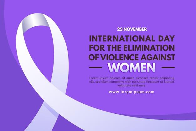 Internationale dag voor de uitbanning van geweld tegen vrouwenachtergrond