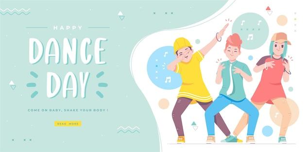 Internationale dansdag illustratie