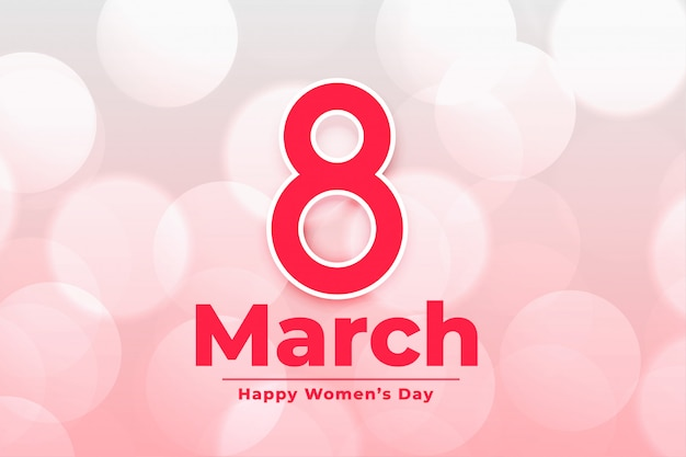 Internationale de dagbanner van 8 maart gelukkige vrouwen