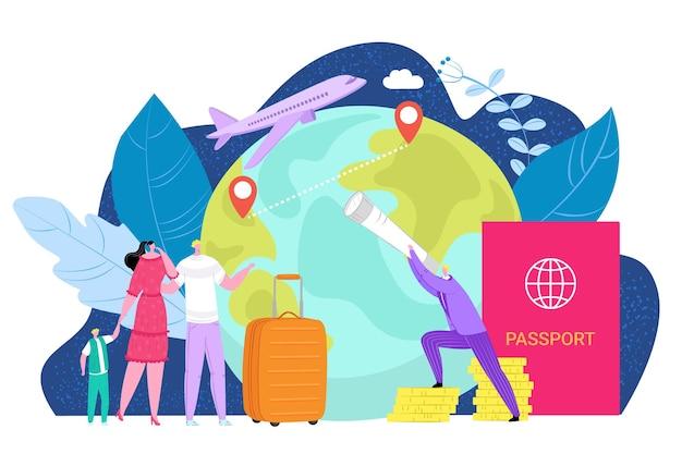 Internationale emigratie illustratie