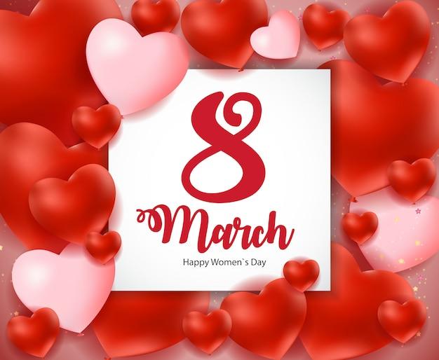 Internationale happy women's day 8 maart floral wenskaart
