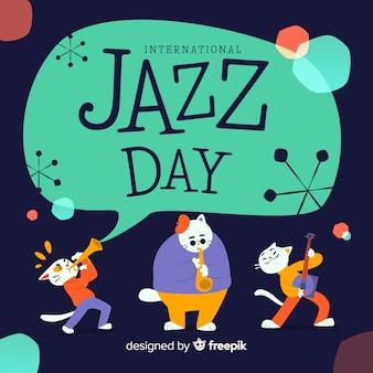 Internationale jazz-dag achtergrond