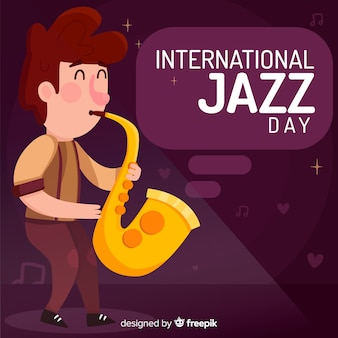 Internationale jazz-dag achtergrond