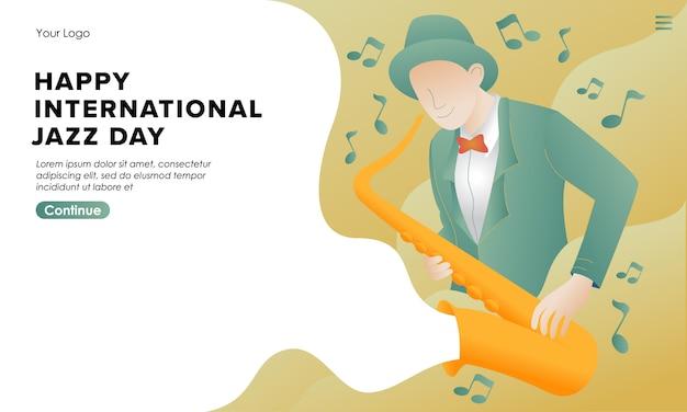 Internationale jazz dag achtergrondillustratie