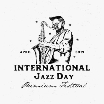 Internationale jazz dag vectorillustratie
