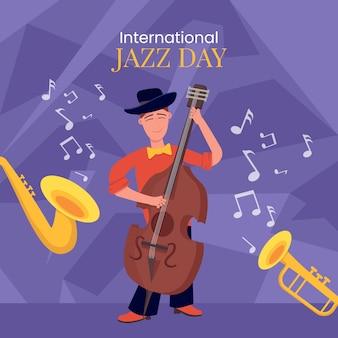 Internationale jazzdag concept