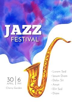 Internationale jazzdag flyer-sjabloon