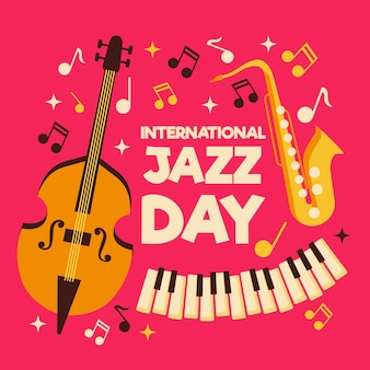 Internationale jazzdag in vlakke stijl