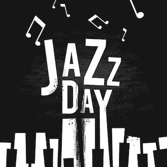 Internationale jazzdag plat ontwerp