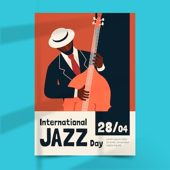 Internationale jazzdag poster sjabloon