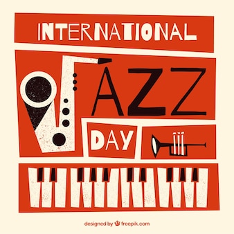 Internationale jazzdag vlakke achtergrond