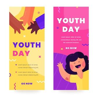 Internationale jeugddag banners set