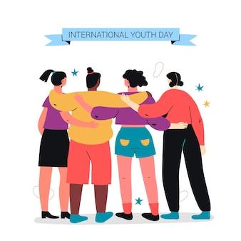 Internationale jeugddag illustratie