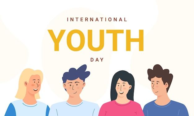 Internationale jeugddag vriendschap fijne jeugddag