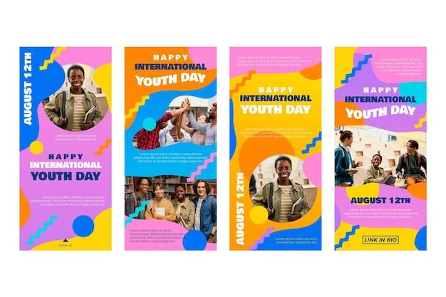 Internationale jeugddagverhalencollectie met foto