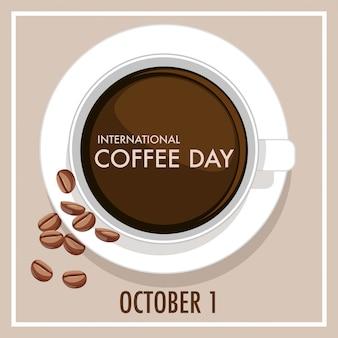 Internationale koffie dag brief banner