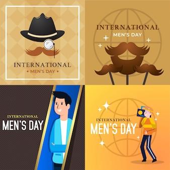 Internationale men's day vectorillustratie