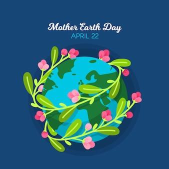 Internationale moeder aarde dag evenement stijl