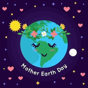 Internationale moeder aarde dag ontwerp
